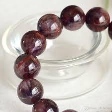 red crystal bracelet images Natural genuine purple red crystal auralite super 23 finish jpg