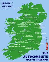 Dublin Ireland Map The Google Autocomplete Map Of Ireland The Daily Edge
