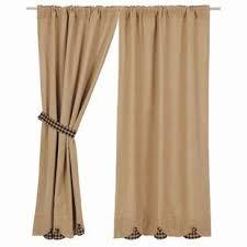 Brown Burlap Curtains Fringed Burlap Curtains Wayfair