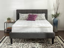 bedroom euro top mattress design with standing lamp and short