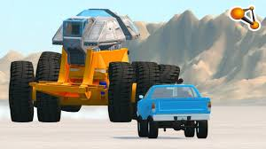 monster truck crash videos youtube monster truck from hell high speed crashes beamng drive youtube