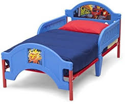 plastic toddler bed kids boys bedroom furniture blue nick jr blaze