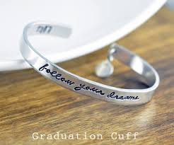girl high school graduation gifts graduation bracelet follow your dreams bracelet high school