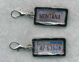 personalized pewter plate license plate charm etsy