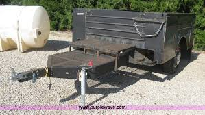 Utility Bed Trailer Knapheide Utility Bed Trailer Item Br9628 Sold August 2