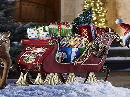 Lighted Santa Sleigh Reindeer Set by Outdoor Sleigh Decoration Garden Art Outdoor Decor Christmas