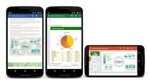 word for android word excel and powerpoint apps updated for android devices with
