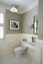 Beadboard In Bathroom Moisture Powder Room With Beadboard Wainscot And Grass Cloth Wall Covering