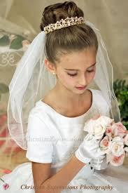 holy communion veils 96 best holy communion hair ideas images on