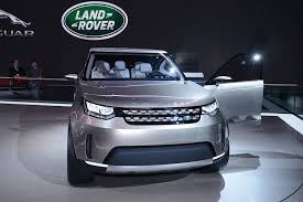 blue land rover discovery 2017 land rover discovery vision concept offroading in new york live