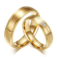 wholesale gold rings images Wholesale stainless steel engagement ring and band jpg