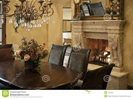 luxury dining room fireplace royalty free stock images image