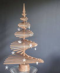 wooden christmas tree oak wood christmas tree by wood company notonthehighstreet
