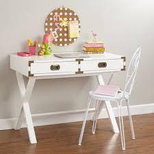 White Parsons Desk Small White Campaign Desk Best Home Furniture Decoration