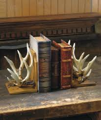 deer antler home decor deer antler bookends wildlife cabin lodge rustic hunting home decor