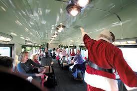 Take a train ride with santa on austin steam train 39 s north pole