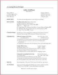 accounting resume exles sle resume for accounting senior accountant resume sle