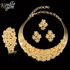 gold jewelry sets for weddings brand jewelry design trendy dubai gold color jewelry set