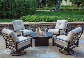 hampton slingback 5 piece set with gas fire table outdoor fire
