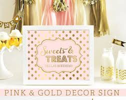 Pink And Gold Dessert Table by Pink Gold Birthday Pink Gold Baby Shower Pink Gold Wedding