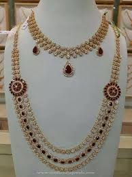 gold stone necklace sets images Bridal cz stone necklace set bridal jewellery collections jpg