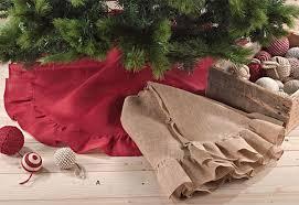burlap tree burlap ornaments garlands tree skirt ideas
