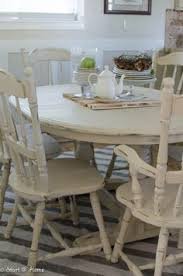 White Distressed Dining Room Table Diy How To Stain And Distress A Table And Chairs Don T Like The