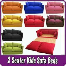 kids children u0027s sofa fold out bed boys girls seating seat