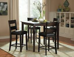 High Dining Room Tables And Chairs Barrel Studio Belknap 5 Counter Height Dining Set