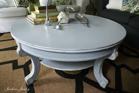 White Painted Coffee Table by Broadview Heights Coffee Table Redo In Blue