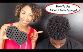 how to use a curl twists sponge tutorial for long natural hair
