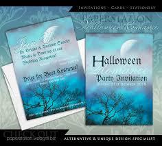halloween party romance gothic wedding invitations