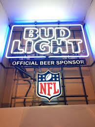 bud light nfl neon sign bud light nfl neon sign collectibles in norco ca