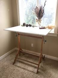 Wood Drafting Table Wooden Drafting Table Standing Desk Furniture In Williams Or