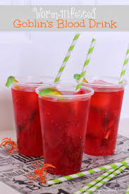 halloween party drink worm infested goblin u0027s blood i dig pinterest