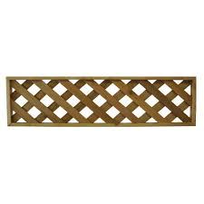 45 75 in x 12 in western red cedar diagonal pattern framed