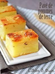 cuisine et fetes pavés de pommes de terre aux zestes de citron thym