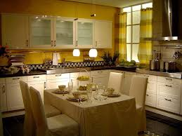 small kitchen colors schemes ideas with white and wood color