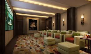 home movie theater design pictures alluring home movie theater room design with red sofa and wall