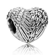 pandora silver heart bracelet images Pandora silver angel wing heart charm 791751 the jewel hut jpg