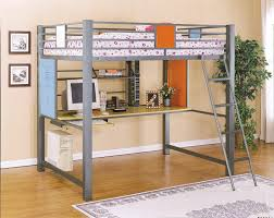 twin bunk bed with desk underneath steel bunk beds lustwithalaugh design metal loft bed with desk