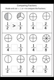 fraction comparison worksheet worksheets