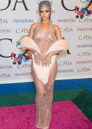 topless pictures of rihanna rihanna bares nipples butt in shockingly sheer dress at cfda