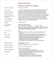Sample Operations Manager Resume by 15 Business Resume Templates U2013 Free Samples Examples U0026 Formats