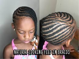hairstyles for little girls with no edges how to do lemonade feed in braids detailed tutorial youtube