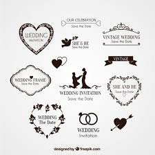 elements for wedding invitation vector free
