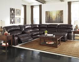 Leather Match Upholstery Signature Design By Ashley Damacio Dark Brown Reclining