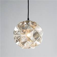 Small Pendant Light Shades Mercury Glass Geodesic Dome Pendant Light Mercury Glass Pendant