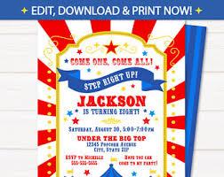 circus invitations cotton invitations carnival