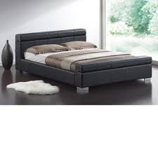 Double Faux Leather Bed Frame by Black Leather Frame Home Design Stunning Picture Ideas Monza 4ft6